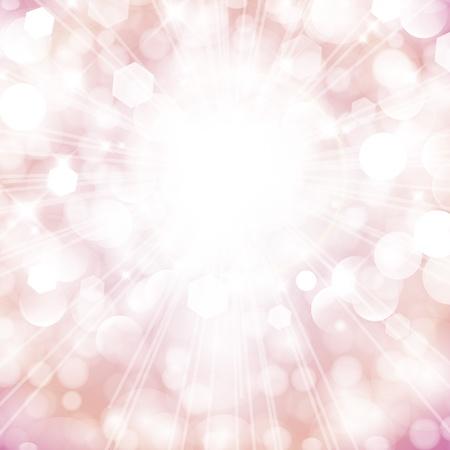 solemn: Vector festive pink sky poster. Illustration