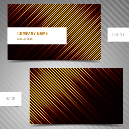 businesscard: Vector modern abstract business-card set. Illustration