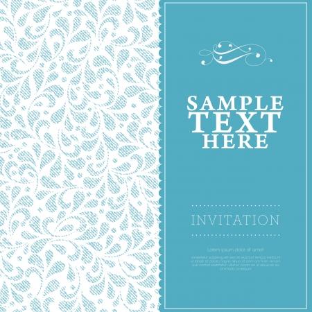 Hochzeit-Karte oder Einladung mit floral Ornament Hintergrund. Perfekt als Einladung oder Ank?ndigung.