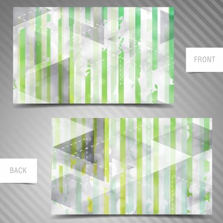 businesscard: Modern abstract business-card set.