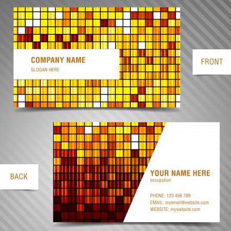 businesscard: modern business-card set. Illustration