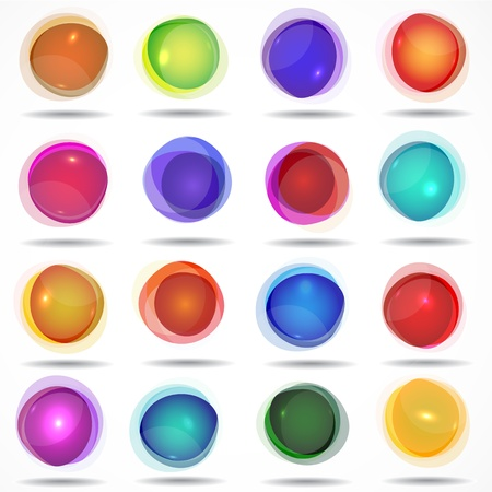 set of colorful buttons. Vector