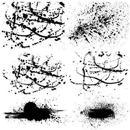 Satz von Grunge Farbflecken. Vektorgrafik