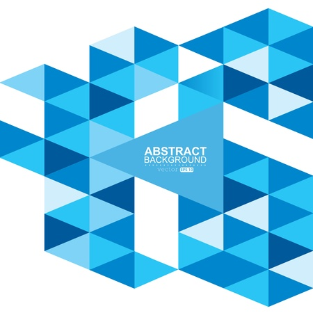 blue modern geometric design template. Vector