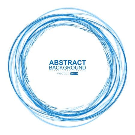 Blauwe cirkel kwast verf Stockfoto - 20507257