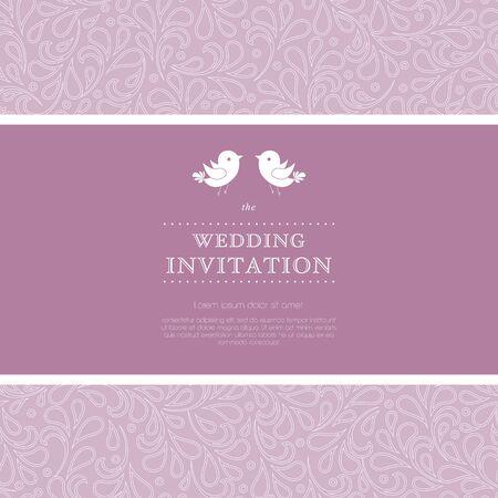 Ornate frame for invitation or announcement   Vector