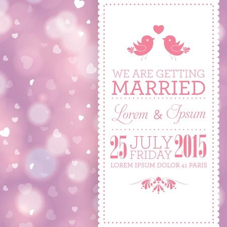 結婚式の招待カード テンプレート