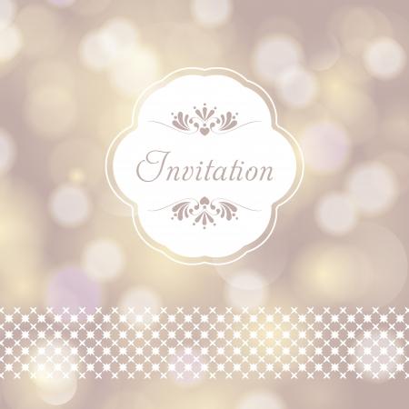 Trouwkaart of uitnodiging met bloemen ornament achtergrond