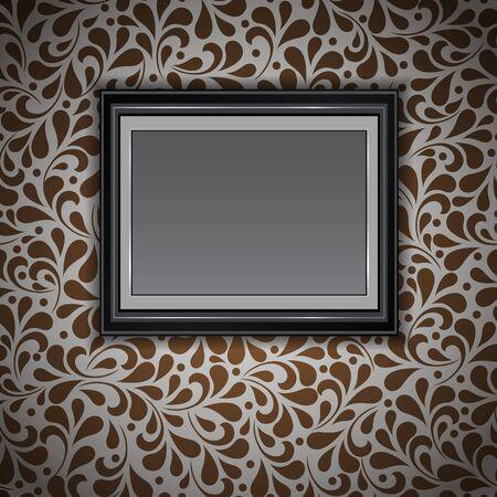 Wooden frame design  Vector