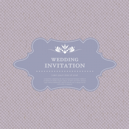 engraved image: Wedding invitation card template  Perfect as invitation or announcement