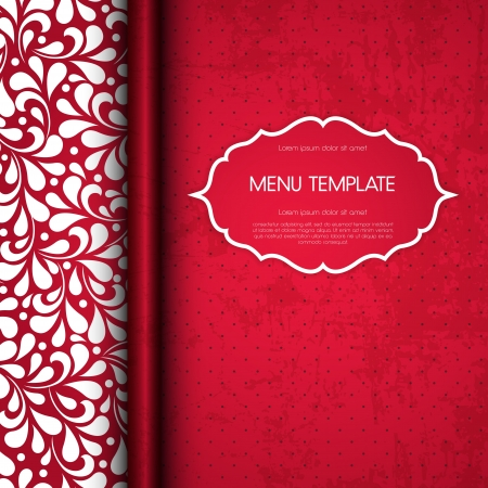 Restaurant menu cover design   Illustration