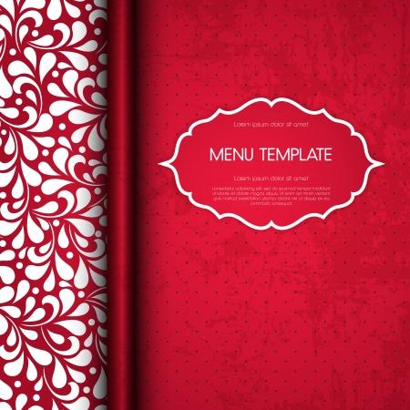 Restaurant menu cover design   Stock Illustratie