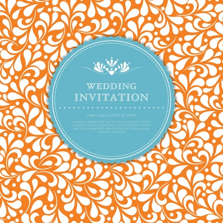 damask background: Wedding card or invitation with floral ornament background  Perfect as invitation or announcement