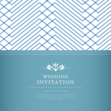 Wedding invitation card template Stock Vector - 20587096