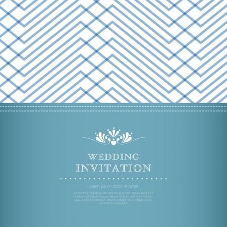 Wedding invitation card template Stock Vector - 20587096