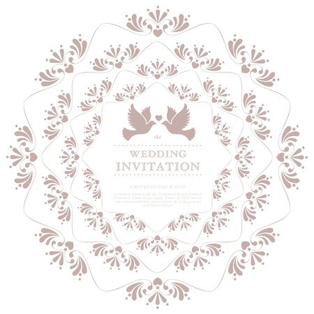 embellishments: Wedding card or invitation with floral ornament background  Perfect as invitation or announcement