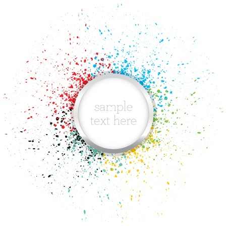 paint drip: Colorful background  Illustration