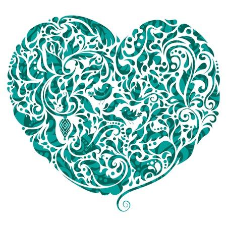 thankful: Icono abstracto del coraz�n