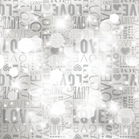 Light silver love abstract background  Vector