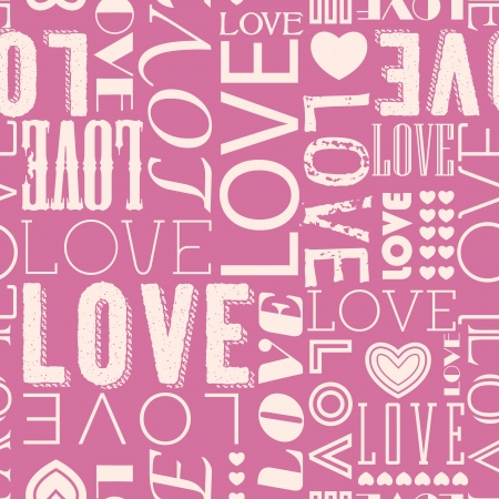 Seamless love heart shape pattern  Vector
