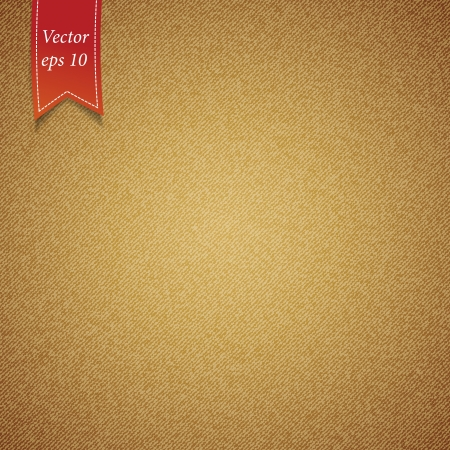 Brown fabric texture background illustration   Vector