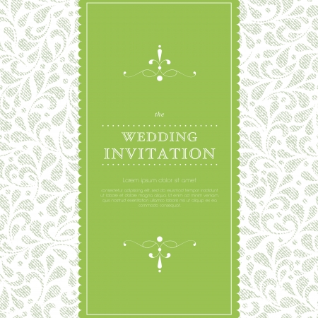 greeting card: Wedding card or invitation with floral ornament background  Perfect as invitation or announcement