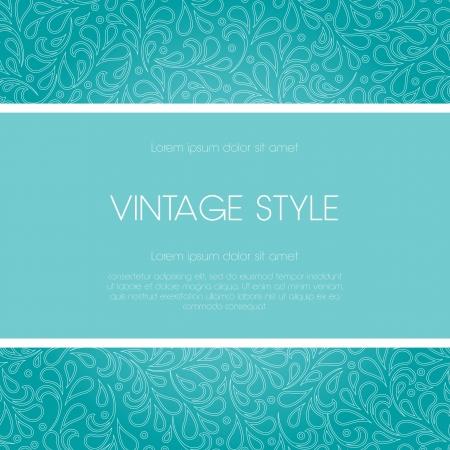 Bruiloft gestileerd kaart met bloem ornament design Perfect als uitnodiging of aankondiging Stock Illustratie