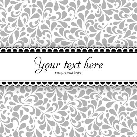 초대 또는 발표로 완전히 꽃 장식 디자인 웨딩 스타일 카드