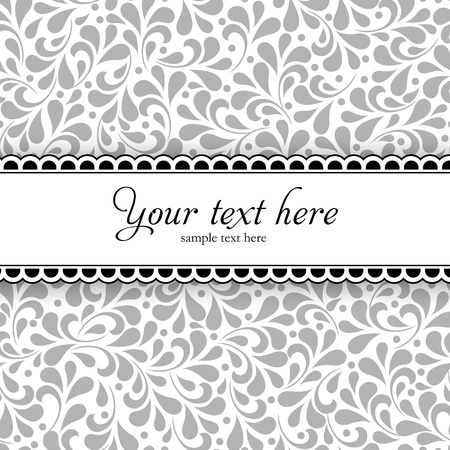 Wedding styled card with floral ornament design  Perfect as invitation or announcement