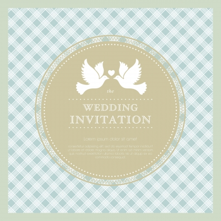 Beautiful template frame design for wedding card  Perfect as invitation or announcement  Vector