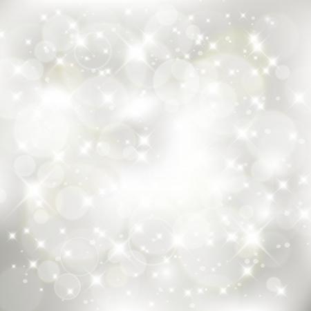 キラキラの抽象的なクリスマス背景銀