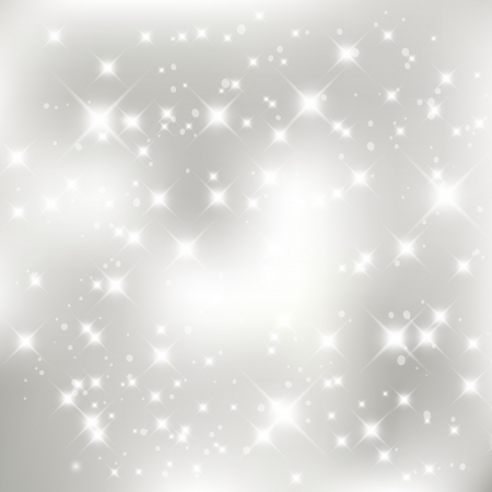 silver stars: Glittery silver abstract Christmas background