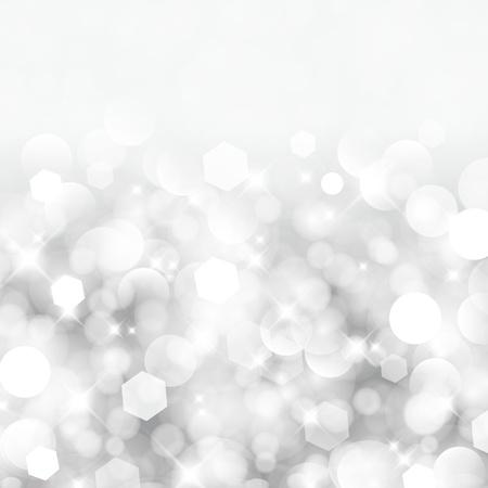 きらびやかなライト シルバー抽象的なクリスマス背景