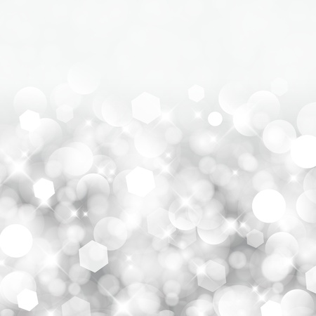 Glittery lights silver abstract Christmas background  Stock Illustratie