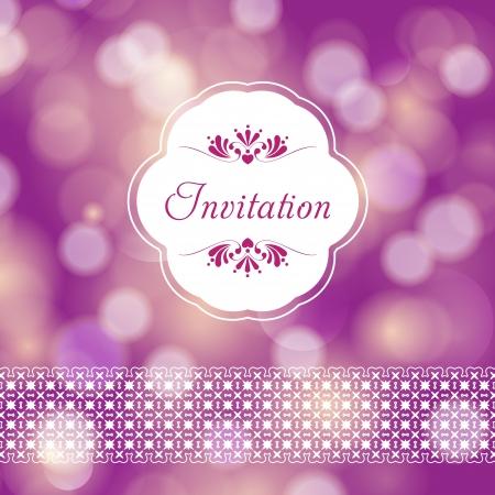 heiraten: Schöne Vorlage Rahmendesign für Hochzeitskarte Perfekt als Einladung oder Ankündigung