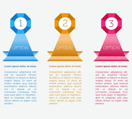 Web banners with different choice option   Vector
