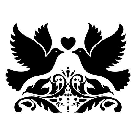 swans: Wedding design element