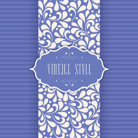 Invitation, anniversary card with label Vector