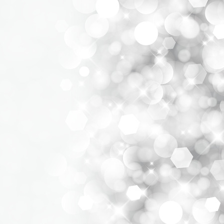 silver background: Glittery lights silver abstract Christmas background  Illustration