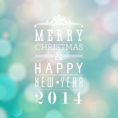 Merry Christmas and Happy New Year card design Stock Vector - 22244481
