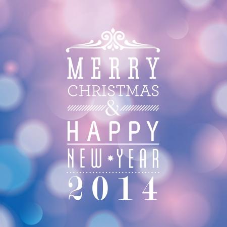 Vrolijk Kerstfeest en Gelukkig Nieuwjaar kaart ontwerp Stockfoto - 22244490