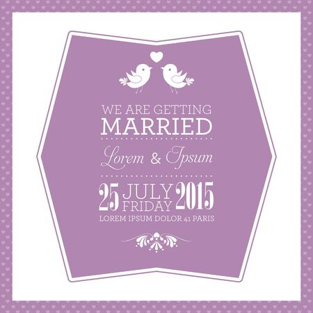 Wedding card or invitation with floral ornament background Vector