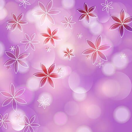 Artistic flower illustration background   Vector