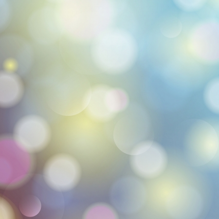 Blue festive Christmas background. Elegant abstract background with bokeh defocused lights and stars. Illustration