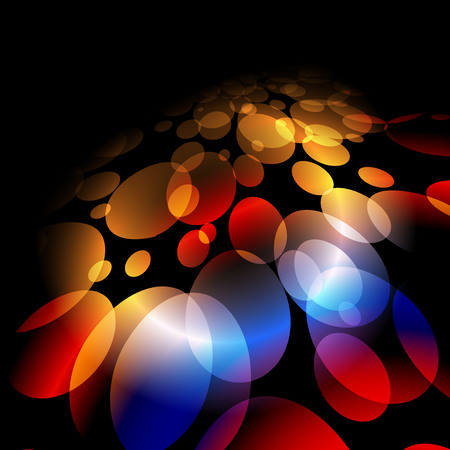 Colorful lights on red background  Vector