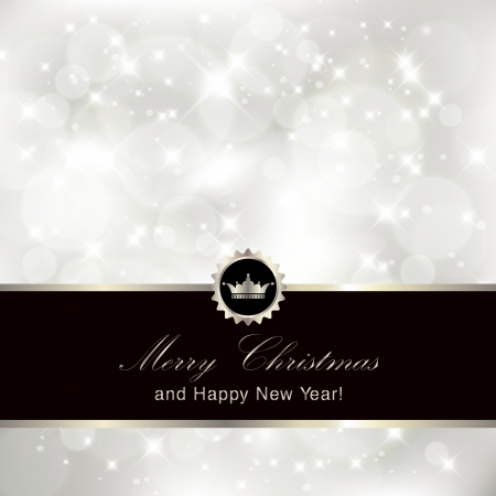solemn: Glittery silver Christmas invitation background