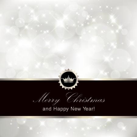 solemn: Reluciente plata fondo de la invitaci�n de Navidad