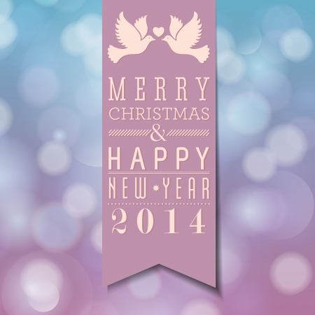 Vrolijk Kerstfeest en Gelukkig Nieuwjaar kaart ontwerp Perfect als uitnodiging of aankondiging Stock Illustratie