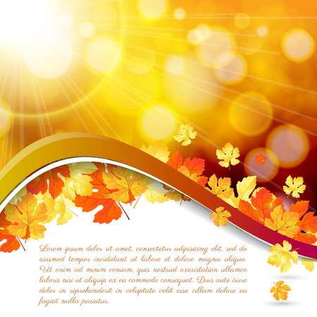 Modern abstract orange autumn background   Vector