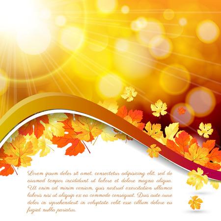 Moderne abstracte achtergrond oranje herfst Stock Illustratie